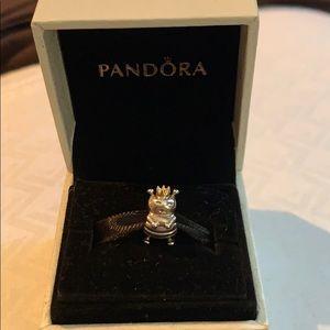 Authentic Pandora 2-Tone Queen Bee Charm